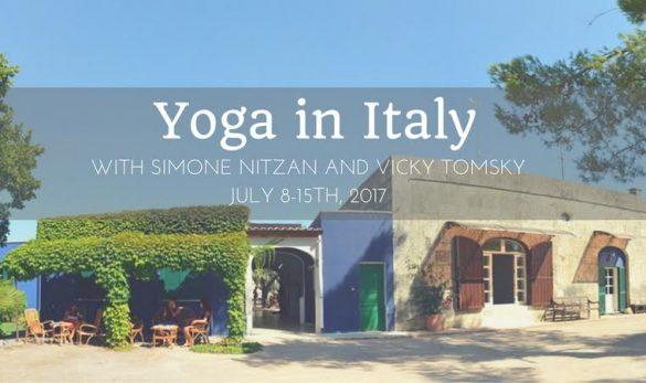 נקטר היוגה עם ויקי וסימון בסלנטו, איטליה